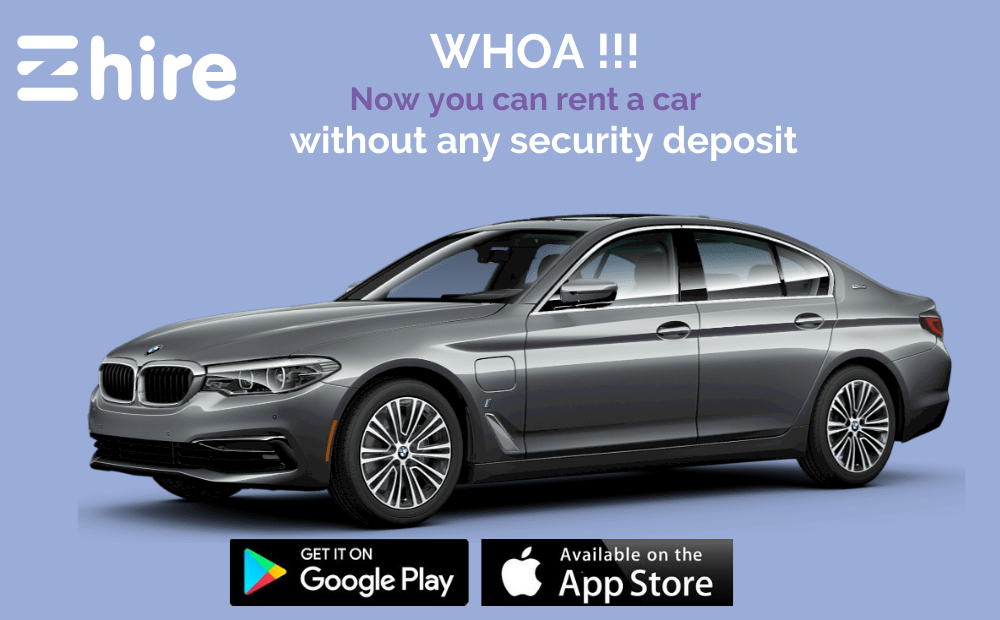 Rent a car without security deposit