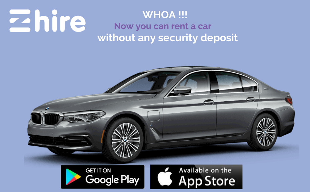 Rent a car without deposit in Dubai, Sharjah and Abu Dhabi